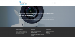 Vidica website screenshot