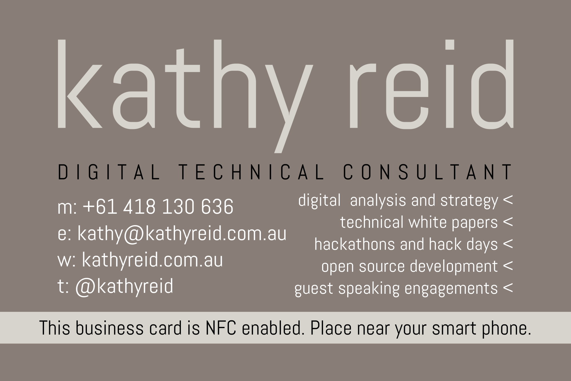 Nfc business cards a new way to connect kathy reid digital nfc business cards a new way to connect kathy reid digital technical consultancy colourmoves