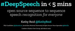 DeepSpeech in 5 minutes