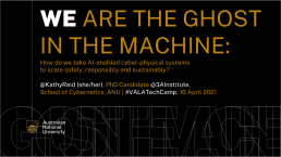 TechEx 2021 - Ghost in the machine cover slide
